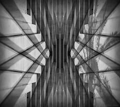 Strategies Against Architecture (OR_U) Tags: blackandwhite bw abstract valencia stairs photoshop blackwhite spain angle steps oru schwarzweiss rightangle 2014 einstürzendeneubauten hss digitalmirror hausderlüge
