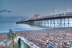 Worthing Pier (Bobbybinz) Tags: england sussex pier worthing nikon surf pebbles handheld hdr d800e