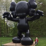 Kaws sculpture at Yorkshire sculpture park