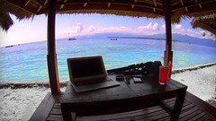 Digital Nomad Office at Gili Meno Island, Indonesia /// (VINJABOND.COM) Tags: travel bali beach indonesia island paradise wanderlust backpacking nomad gili hedonism digitalnomad vinjabond glimeno
