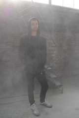 'Jake' i. (miranda.valenti12) Tags: windows portrait mist brick abandoned window fog standing factory jake smoke warehouse ladder