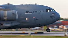 MSP ZZ173 (Skeeter Photo) Tags: aviation military smoke msp cargo landing c17 globemaster raf royalairforce kmsp minneapolisstpaulinternationalairport avgeek c17a chrislundberg zz173 skeeterphoto
