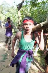 H504_3358 (bandashing) Tags: trees red england men green boys festival manchester dance log shrine branch pray sing sylhet bangladesh socialdocumentary mazar aoa shahjalal bandashing akhtarowaisahmed treecuttingfestival lallalshahjalal
