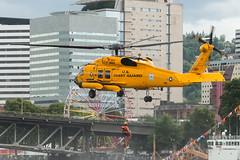 Coast Guard 6003 (sabian404) Tags: rescue rose yellow festival oregon cn river portland demo coast centennial search cg paint united guard special astoria states sar willamette jayhawk sikorsky h60 6003 cgas 70651 mh60t cg6003