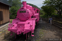 Pink SL at Wakasa Railway (31) (double-h) Tags: sl tottori jnr steamlocomotive c12   eos6d  ef2470mmf4lisusm  pinksl wakasarailway  c12 c12167 wakasastation classc12 c12 sl