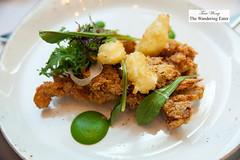 Fried softshell crab, Georgia cheese curds, smoked Louis, green coriander (thewanderingeater) Tags: atlanta dinner georgia buckhead finedining restauranteugene