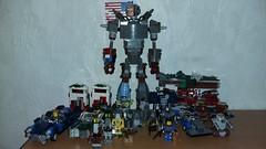 Fallout collection so far. (Brickule) Tags: robot lego apocalypse 50s fallout apoc corvega