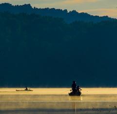 Morning mist at Hopewell Lake (bgdesign2016) Tags: sunrise mist fishing kayak