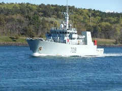 Canadian Navy Boat on Cape Cod Canal (wildukuleleman) Tags: massachusetts cape cod