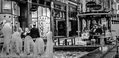 Coffee by a fountain. (steve.gombocz) Tags: street fountain coffee blackwhite cafe noiretblanc zwartwit streetphotography blacknwhite noirblanc whiteblack negroyblanco blackandwhitephotos svarthvitt mustavalkoinen negroblanco neroebianco schwartzweiss olympuscamera sortoghvid svartochvitt schwartzundweiss svartoghvitt olympusm25mmf18 olympusem5mark2 flickrblackandwhitephotos flickrbwphotos czarnyibiaty