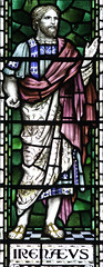 St Irenus (Lawrence OP) Tags: college saint stainedglass oxford martyr bishop toga mansfield doctorofthechurch