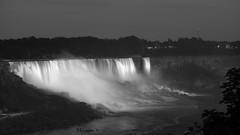 Lit Falls from the Bridge (Bruce Livingston) Tags: canada night niagarafalls us nightscape falls rainbowbridge niagarariver