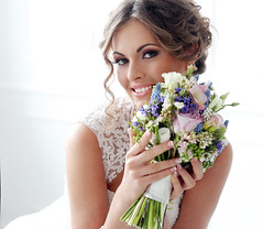 Wedding. Beautiful bride (xuanlocshop.com) Tags: flowers wedding portrait people woman white love church floral girl beautiful beauty smile face look smiling closeup female hair happy bride engagement eyes pretty day looking married dress adult young makeup happiness curls latvia clothes celebration human mature mascara bouquet bridal hairstyle elegance caucasian
