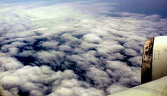 Clouds On Clouds (Khaled M. K. HEGAZY) Tags: blue sky cloud white black nature closeup plane nikon outdoor engine aerial coolpix p520
