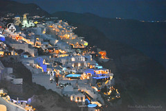 Santorini at night (Oia) (Nikos Roditakis) Tags: night greek photography islands nikon s nikos santorini af nikkor scenes oia vr 55200mm d5200 roditakis