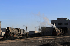 I_B_IMG_7407 (florian_grupp) Tags: china railroad train landscape asia mine desert muslim railway steam xinjiang mikado locomotive ore js steamlocomotive 282 opencastmine yamansu