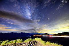 (M.K. Design) Tags: road longexposure mountains nature lights star landscapes nikon scenery taiwan galaxy skyscapes     ultrawide hualien hdr    starrynight  milkyway   nantou   2016       nightimage hehuanshan    14   mthehuan    mkdesign  tarokogorgenationalpark   3275 d800e   mk