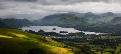 Keswick & Derwentwater (Ade G) Tags: light panorama mountains lakes derwentwater keswick