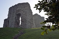 RUINED (DESPITE STRAIGHT LINES) Tags: sunset christchurch england sunlight tree castle history grass leaves stone nikon ruins steps christchurchcastle d7000 ilobsterit