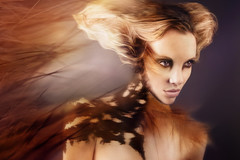 Wisper (Dar.shelle) Tags: portrait orange female canon hair model paint purple body stevens feather makeup fantasy 7d imagine thorns wisp whimsical lyz darshelle