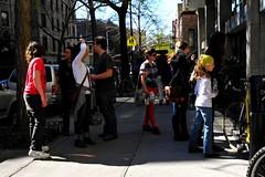 magical (omoo) Tags: newyorkcity mystery westvillage sidewalk magical picnik streetscenes greenwichvillage girlsandboys newschool west11thstreetlookingtowardssixthavenue