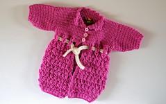 Bebis Kofta (RosasWorkshop) Tags: baby rosa modell gul sommar kofta grn bebis detaljer vit knappar broderi krage lngkofta strl5068 bebiskoftarosaborderadelngvirkadevit