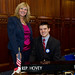 Rep. Hovey and Masuk HS junior Chris Gorman