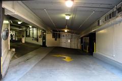 Parking Garage, downtown Seattle (Blinking Charlie) Tags: seattle usa downtown parkinggarage entrance washingtonstate 2012 pikestreet theblade canonpowershotg12 blinkingcharlie