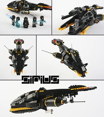 """SIRIUS"" Blacktron leader- R'rah-ll - starfighter (Shamisenfred) Tags: doll lego sirius starfighter blacktron seryan"
