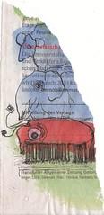 Schaf-Elefant-Tausendfssler (raumoberbayern) Tags: ink watercolor painting newspaper sheep topv1111 elefant tinte malen zeitung schaf robbbilder millipedes wasserfarbe fishoftheday tausendfssler fischwerkstatt