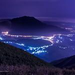 Foggy Mountain under twilight 藍色微光七星