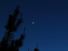 Moon and Venus - April 24, 2012 (spacemike) Tags: sky moon stars venus mercury charlotte northcarolina astro astrophotography planet astronomy nightsky charlottenc lunar celestial crescentmoon waxingmoon charlottenorthcarolina conjunction planetaryconjunction spacemike celestiallineup planetarylineup