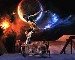 Freedom Of An Eagle As She Flies ... (57 Corvette ~ Bob) Tags: moon jumping earth skaters skateboard soaring glazy