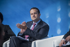 Leo Varadkar applauds on Day 2 of the Annual Summit