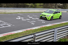 Nrburgring 2012 : Yellow Flowers' Death [Focus RS] (Emeric Cadart) Tags: flowers cars ford beautiful car monster yellow death crazy focus gorgeous awesome extreme fast carousel spotted monsters rs supercars on nordschleife nrburgring wonderfull worldcars