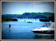 Busy Lake Ontario (GreatBlueHeron) Tags: summer lake boats rochester lakeontario
