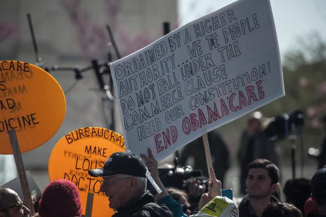 Obamacare Protest at Supreme Court