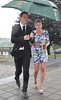 Johnny Sexton and Laura Priestley The wedding of model Aoife Cogan and rugby star Gordon D'Arcy, held at St. Macartan's Cathedral Monaghan, Ireland