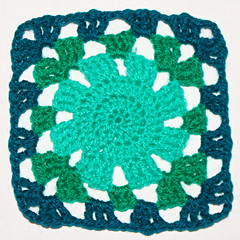 Square 10: Craftgirl's Sunburst (Craftgirl78-crochet) Tags: crochet sunburst grannysquare week8 crochetalong square8 square10 grannysquaresamplerafghan grannysquaresamplerafghancal sunburstwith6rounds craftgirlssunburst