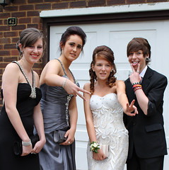 prom 15 (samspics1234) Tags: girls friends party diamonds hair grey pretty dress group limo prom satin jewels hummer gems