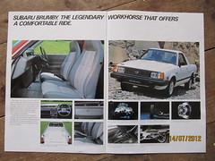 Australian Subaru Brumby brochure from 1985 pages 6 and 7 (Sholing Uteman) Tags: pickup subaru brumby brat mv