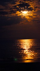 moonlight on ocean (AcroYogi) Tags: ocean family summer vacation sky moon beach kids clouds play nightshot f14 bethany moonrise roberts july4 2012 seegarten cousinsweek