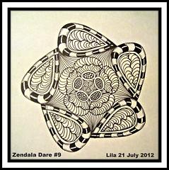 Zendala Dare #9 (Poppie_60) Tags: pen drawings doodle tangle zentangle zendoodle ziazentangleinspiredart zendaladares