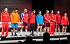 56kg lineup 2011 worlds Paris (Rob Macklem) Tags: world paris championship olympic weightlifting kg 56 2011