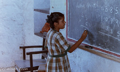 At school (alison.toon) Tags: school india chalk math ahmednagar chalkboard schoolgirl maths blackboard sums