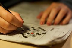 Questions? (JannekeH) Tags: selfportrait 50mm crossword zelfportret projectabc summer2012 alphabetsummer