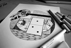 "WIP ""Dominó"" zona mágica/RevistaTU (Anita Mejia) Tags: white black art girl illustration pen ink magazine drawing magic revista domino tu ilustracion chocolatita anitamejia"