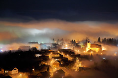 Photo by Zoran Stanko (HumanTheme.com) Tags: light fog night photography lights foggy croatia zoran stanko photostory humantheme ivanec