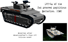 """Hells Angels"" LVT-4A (Florida Shoooter) Tags: usa usmc lego pacific ww2 iwojima ldd lvt4a"
