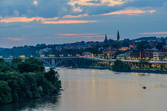 Georgetown at Dusk (JasonianPhotography) Tags: washingtondc washington districtofcolumbia unitedstates georgetown rivers potomacriver kennedycenter keybridge georgetownuniversity foggybottom flickraward nikonflickraward